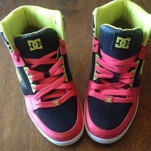 D.C. high top skater shoes